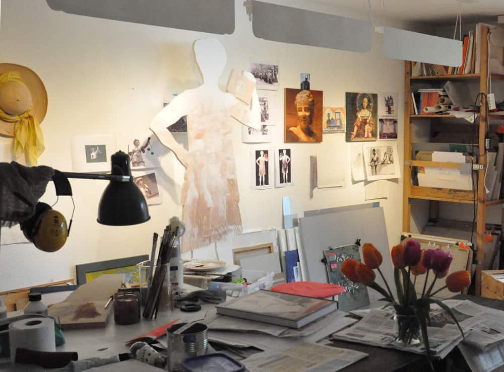 Atelier von der Künstlerin Heinke Torpus