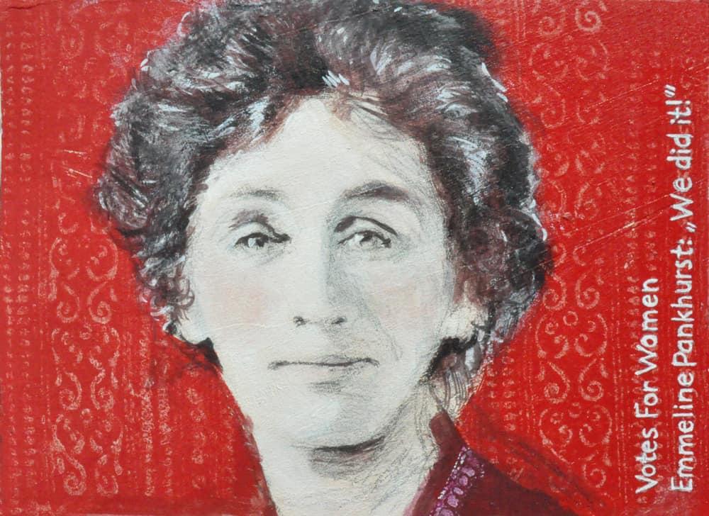 Ein Porträt von Emmeline Pankhurst gemalt von Heinke Torpus