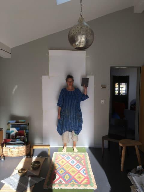 Elisabeth Fux Mattig im Atelier 2