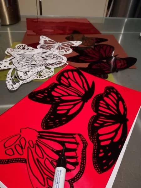 Schmetterlinge im Atelier