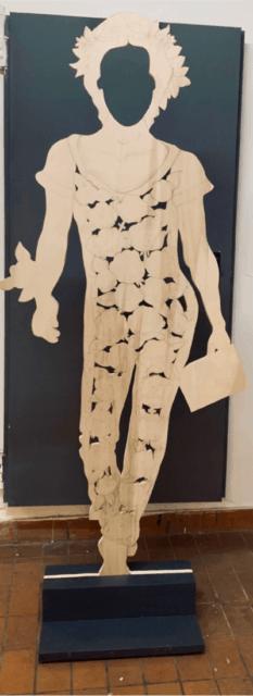 Frauenfigur von Anna Aregger für SGBK Kunstprojekt