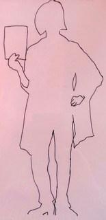 Frauenfigur Kontur rosa von Rosalba Arcilla
