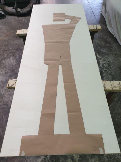 Agnes Guhl Silhouette im Atelier