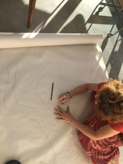 Zeichnen im Atelier Calderara Jaime