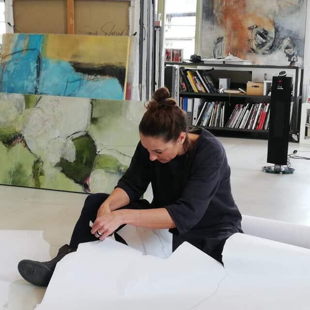 Chantal Hediger im Atelier 3