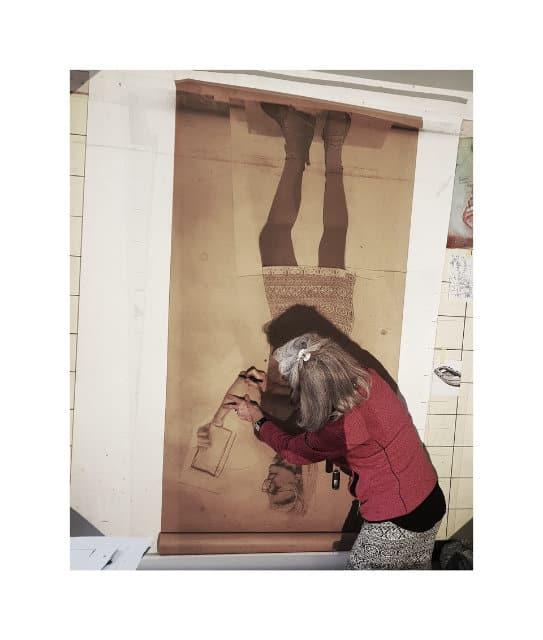 christina klaefiger im Atelier