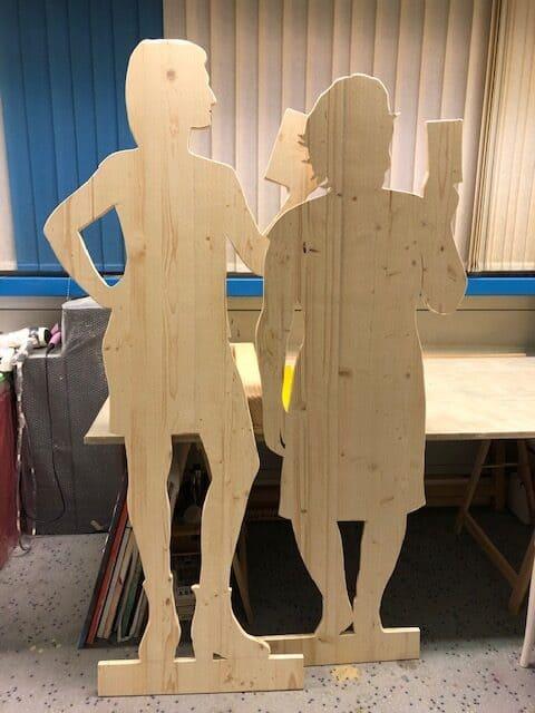 christina klaefiger Figuren aus Holz