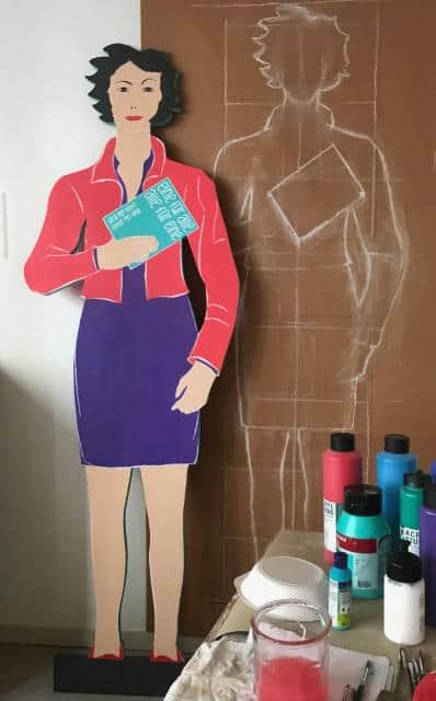 elsbeth-gyger-frauenfigur im Atelier